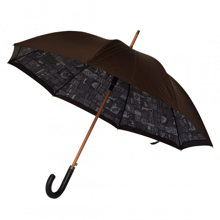 Parapluie automatique Neyrat journal marron