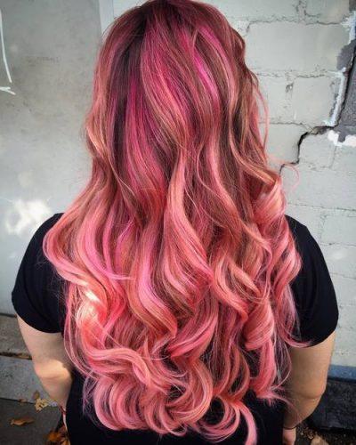 pink hair brown