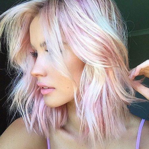 Pink hair blonde